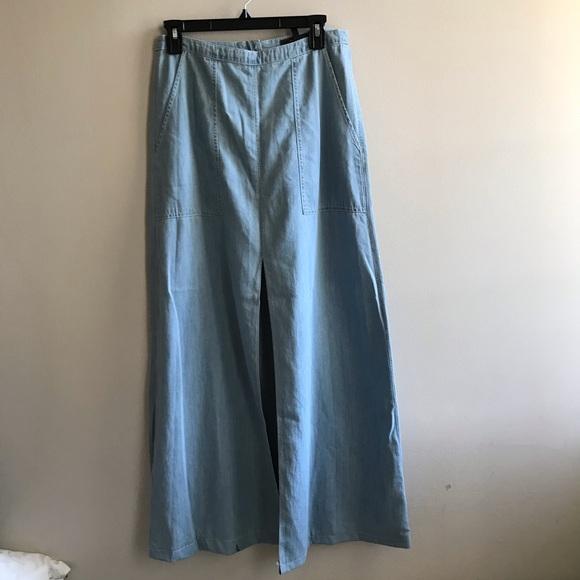 BCBGMaxAzria Dresses & Skirts - NWT Floor length chambray skirt